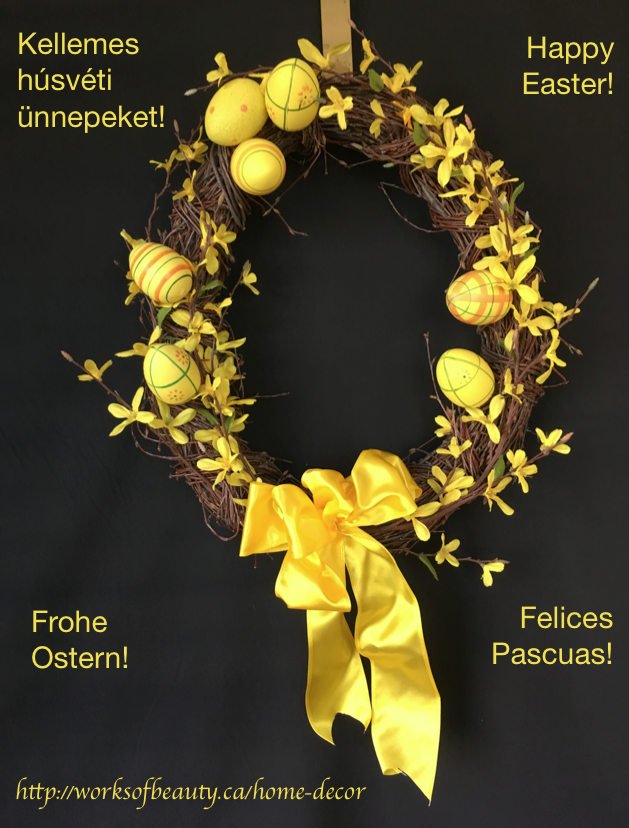 Picture of easter wreath