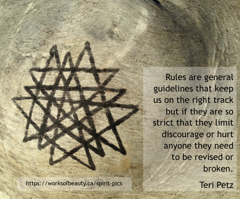 Picture with quote about rules
