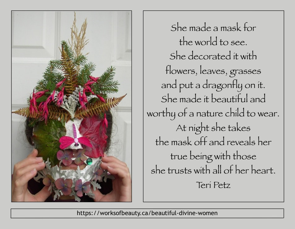 Picture of a mask with poem